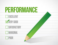 Very good performance review illustration. Design graphic over white background Royalty Free Stock Photo