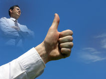 Very good!Success! royalty free stock image