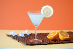 Very great cocktail with lemon. Fresh summertime cocktail with lemon and fruit juice Royalty Free Stock Image