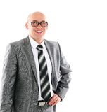 Very handsome businessman with glasses isolated Stock Photography