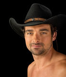 Very handsome sexy Italian Cowboy Royalty Free Stock Photography