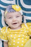 Very Happy infant smiling at camera royalty free stock photography