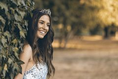 She is very happy royalty free stock photos