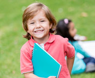 Very happy boy at school Stock Photography