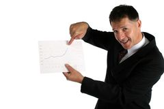 Very happy buisness man with hands in the air Royalty Free Stock Photos