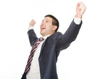 Very happy businessman Royalty Free Stock Photography