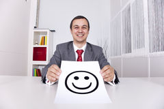 Very happy businessman Stock Photography