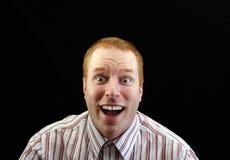 Very happy businessman Stock Image