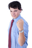 very happy  businessman with his arm raised Royalty Free Stock Image