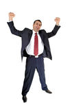 Very happy Businessman. Royalty Free Stock Photography