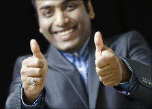 A Happy  Bussiness Man congratulating Stock Photography
