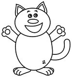 A very happy cat for coloring Stock Image