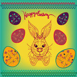 Very Happy Easter RABBIT, Easter Bunny Ears. FOR BANNER Stock Images
