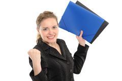 Very happy and ecstatic winner of something. Stock Images