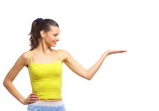 Very happy excited beautiful woman Stock Photography