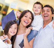 Happy family shopping Royalty Free Stock Images