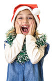 Very happy girl Chrismas portrait Stock Images