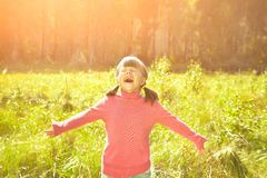 Very happy girl Royalty Free Stock Photography