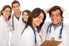 Very happy group of doctors Stock Image