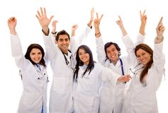 Very happy group of doctors Royalty Free Stock Photo