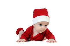 Very happy little girl in Santa Claus day Royalty Free Stock Images