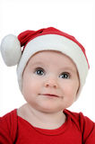 Very happy little girl in Santa Claus day Stock Images