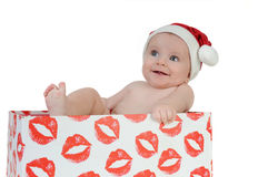 Very happy little girl in Santa Claus day Royalty Free Stock Photography