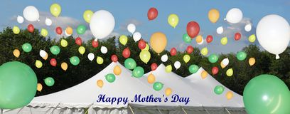 A very happy mother`s day celebration card stock images
