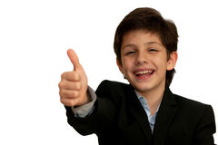 Very happy smart boy Royalty Free Stock Photography