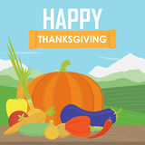 Very happy Thanksgiving on wood Royalty Free Stock Photos