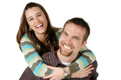 Very Happy together stock photography