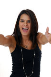 Very happy woman Stock Image