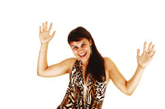 Very happy young woman. Stock Images