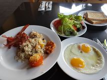 A very healthy breakfast in bali indonasia. royalty free stock photos