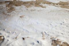 Very dirty snow Stock Image