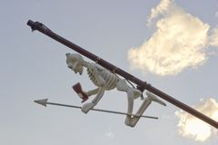 Toy skeleton of the pirate ship Stock Image