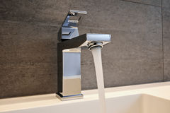 Very high end faucet, sink, and counter Royalty Free Stock Image