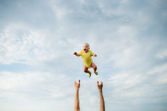 Very high jump Stock Photography