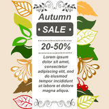 Very high quality original autumn sale booklet or brochure, leaf Royalty Free Stock Photo