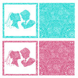 Very high quality original illustration of wedding card, wedding Royalty Free Stock Images