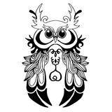 Very High quality owl or filin for coloring or tattoo. Very High quality original owl or filin for coloring or tattoo Stock Photo
