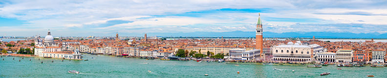 Very high resolution panoramic view of Venice on a beautiful day Stock Photo