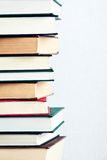 Very high stack of books Royalty Free Stock Photos