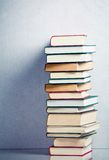 Very high stack of books Royalty Free Stock Image
