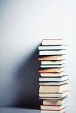 Very high stack of books Royalty Free Stock Photo