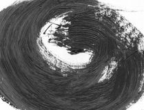 VERY HIGHT resolution. Abstract ink background. Marble style. Black and white paint stroke texture. Macro image of Stock Photo