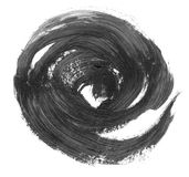 VERY HIGHT resolution. Black handdrawn oil circle realistic strokes banners royalty free illustration