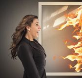 Very hot temperature Stock Photography