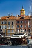 The famous and hype village of Saint-Tropez stock image