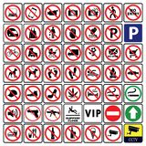 Very important and Most useful sign and symbol collection-Prohibition sign Collection vector illustration